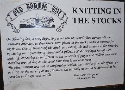 knitting In The Stocks - Bodmin Prison