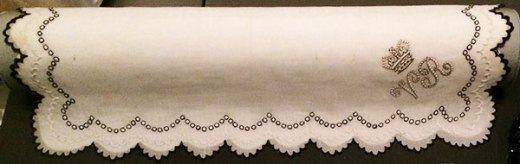 V and A Mourning Handkerchief