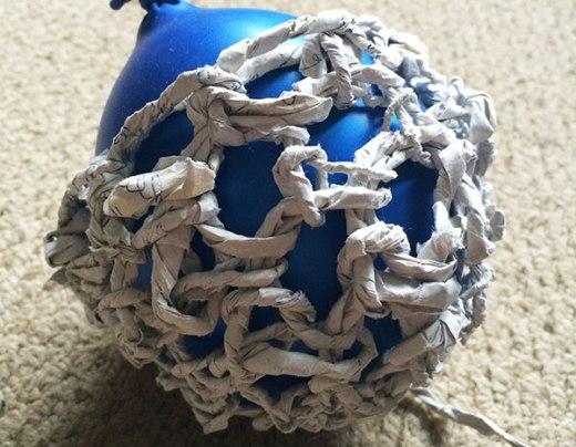 crochet Paper Yarn Bowl
